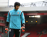 Petr Cech of Chelsea  - Barclays Premier League - Liverpool vs Chelsea - Anfield Stadium - Liverpool - England - 8th November 2014  - Picture Simon Bellis/Sportimage