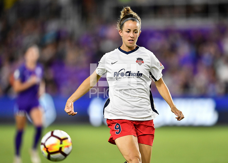Orlando, FL - Saturday July 07, 2018: Havana Solaun during the second half of a regular season National Women's Soccer League (NWSL) match between the Orlando Pride and the Washington Spirit at Orlando City Stadium. Orlando defeated Washington 2-1.