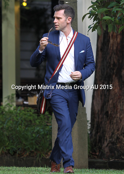 23 APRIL 2015 SYDNEY AUSTRALIA<br /> <br /> NON EXCLUSIVE<br /> <br /> Sonia Kruger pictured leaving a lunch meeting at Chiswick with David Campbell.