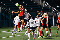 Rochester, NY - Friday April 29, 2016: Western New York Flash forward Lynn Williams (9). The Washington Spirit defeated the Western New York Flash 3-0 during a National Women's Soccer League (NWSL) match at Sahlen's Stadium.