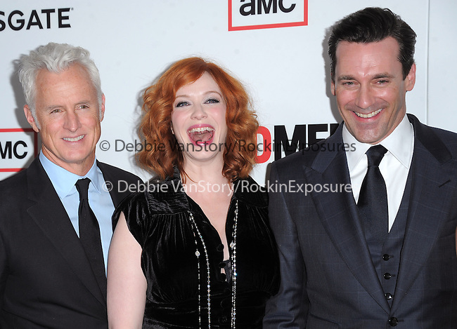 John Slattery ,Christina Hendricks, Jon Hamm  at The AMC Premiere of The 6th Season Of Mad Men held at The DGA in West Hollywood, California on March 20,2013                                                                   Copyright 2013 Hollywood Press Agency