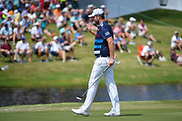 Marc Leishman (AUS) sinks his birdie putt on 11 during round 4 of the WGC FedEx St. Jude Invitational, TPC Southwind, Memphis, Tennessee, USA. 7/28/2019.<br /> Picture Ken Murray / Golffile.ie<br /> <br /> All photo usage must carry mandatory copyright credit (© Golffile | Ken Murray)