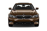 Car photography straight front view of a 2019 BMW 3 Series Sport PHEV 4 Door Sedan