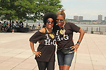 Another World's Rhonda Ross and founder Deborah Koenigsberger at Hearts of Gold Run/Walk for Kids 2018 join with kids and their moms in New York City, New York. After the walk they did tug of war, hop scotch, card games, exercise, food, a fun day on the pier. (Photo by Sue Coflin/Max Photo)