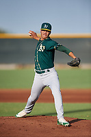 AZL Athletics Green starting pitcher Luis Martinez (46) during an Arizona League game against the AZL Reds on July 21, 2019 at the Cincinnati Reds Spring Training Complex in Goodyear, Arizona. The AZL Reds defeated the AZL Athletics Green 8-6. (Zachary Lucy/Four Seam Images)
