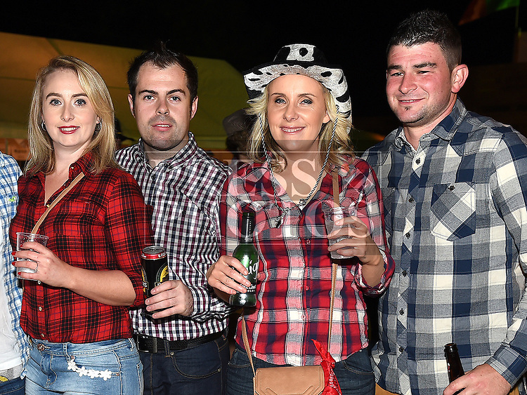 Irene Kavanagh, Mark Noone, Amy Kavanagh and Gary Duff at the Hooley on the Hill barn Dance on the Hill of Rath. Photo:Colin Bell/pressphotos.ie