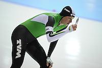 SCHAATSEN: HEERENVEEN: IJsstadion Thialf, 03-11-2012, Trainingswedstrijd, Sven Kramer, 3000m in 3.44,65, ©foto Martin de Jong
