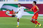 Aziz Sydkov of Kyrgyz Republic (L) in action against Gao Lin of China (R) during the AFC Asian Cup UAE 2019 Group C match between China (CHN) and Kyrgyz Republic (KGZ) at Khalifa Bin Zayed Stadium on 07 January 2019 in Al Ain, United Arab Emirates. Photo by Marcio Rodrigo Machado / Power Sport Images