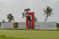 Lloyd Jefferson GO (PHI) watches his tee shot on 8 during Rd 4 of the Asia-Pacific Amateur Championship, Sentosa Golf Club, Singapore. 10/7/2018.<br /> Picture: Golffile | Ken Murray<br /> <br /> <br /> All photo usage must carry mandatory copyright credit (© Golffile | Ken Murray)