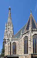 Gotischer Stephansdom in Wien, Österreich, UNESCO-Weltkulturerbe<br /> Gothic Stephansdom, Vienna, Austria, world heritage