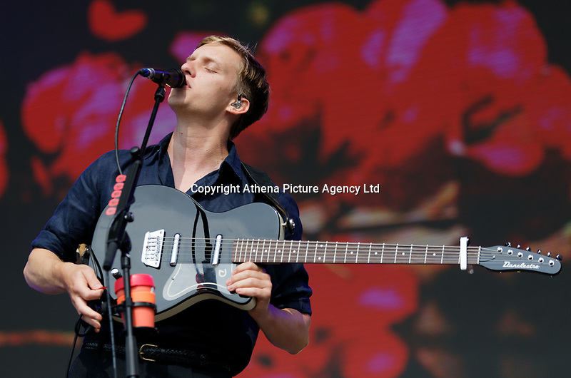 Pictured: George Ezra performs. Saturday 26 May 2018<br /> Re: BBC Radio 1 Biggest Weekend at Singleton Park in Swansea, Wales, UK.