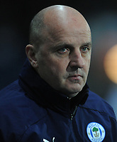Wigan Athletic manager Paul Cook <br /> <br /> Photographer Kevin Barnes/CameraSport<br /> <br /> The EFL Sky Bet Championship - Blackburn Rovers v Wigan Athletic - Tuesday 12th March 2019 - Ewood Park - Blackburn<br /> <br /> World Copyright © 2019 CameraSport. All rights reserved. 43 Linden Ave. Countesthorpe. Leicester. England. LE8 5PG - Tel: +44 (0) 116 277 4147 - admin@camerasport.com - www.camerasport.com