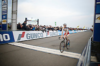 2nd crossing the finish line: Kevin Pauwels (BEL/Sunweb-Napoleon Games)<br /> <br /> Koksijde CX World Cup 2014