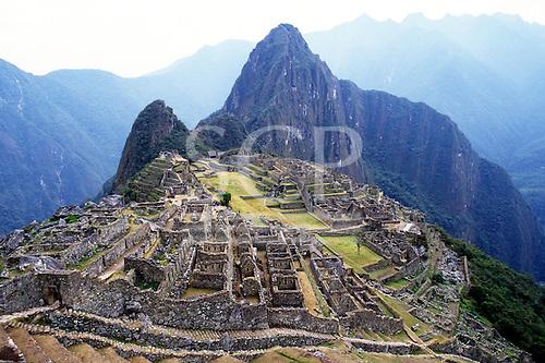Machu Picchu, Peru. Overview of the main town site.
