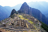 Machu Picchu, Peru. Overview of the main town site.