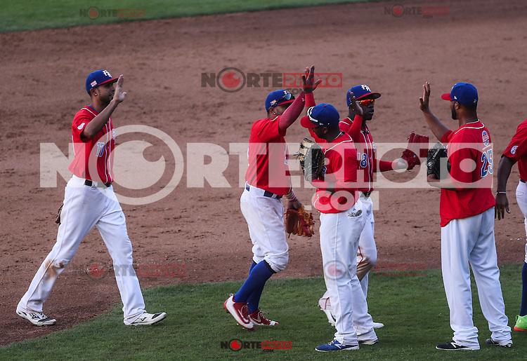 Puerto Rico gana 10 carreras por dos de Dominicana , durante el partido de beisbol de la Serie del Caribe entre Republica Dominicana vs Puerto Rico en el Nuevo Estadio de los Tomateros en Culiacan, Mexico, Sabado 4 Feb 2017. Foto: Luis Gutierrez/NortePhoto.com<br /> <br /> Actions, during the Caribbean Series baseball match between Dominican Republic vs Puerto Rico at the New Tomateros Stadium in Culiacan, Mexico, Saturday 4 Feb 2017. Photo: Luis Gutierrez / NortePhoto.com