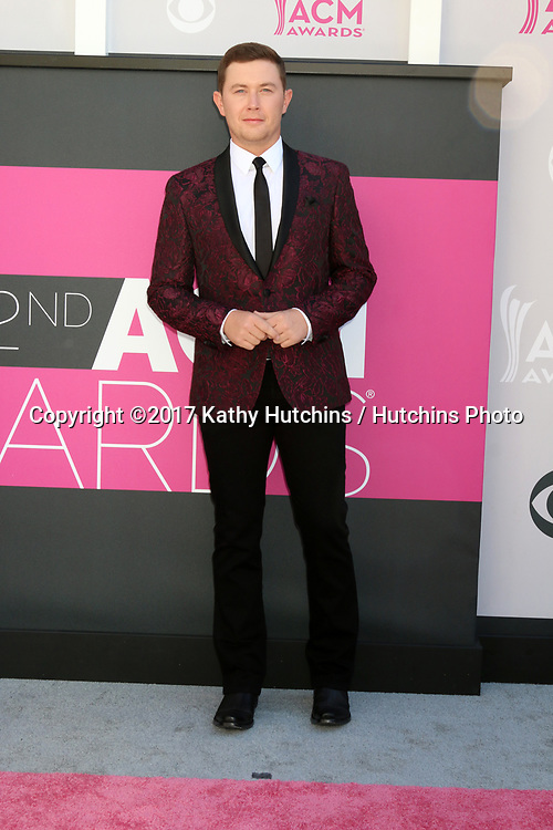 LAS VEGAS - APR 2:  Scotty McCreery at the Academy of Country Music Awards 2017 at T-Mobile Arena on April 2, 2017 in Las Vegas, NV