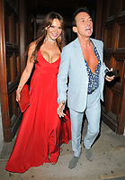 Elizabeth &quot;Lizzie&quot; Cundy and Bruno Tonioli at the Syco summer party, Victoria and Albert Museum, Cromwell Road, London, England, UK, on Monday 09 July 2018.<br /> CAP/CAN<br /> &copy;CAN/Capital Pictures