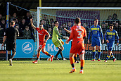 5th November 2017, Damson Park, Solihull, England; FA Cup first round, Solihull Moors versus Wycombe Wanderers; Nick Freeman of Wycombe Wanderers celebrates opening the scoring in the 15th minute