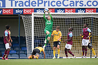 Harry Seaden, Southend United, comfortably collects the cross during Southend United vs West Ham United Under-21, EFL Trophy Football at Roots Hall on 8th September 2020