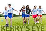 Enjoying the Fybough National School sports day at Keel GAA grounds on Thursday were Shannan Lenihan, Ava Ladden, Keyanna Foley, Sarah Cremins, Jade Kelleher and Hannah Joy