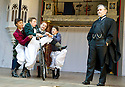 Blue Stockings by Jesscia Swale . A Shakespeare's Globe Production directed by John Dove. With Tala Gouveia as Carolyn, Ellie Piercy as Tess, Molly Logan as Maeve  , Olivia Ross as Celia, Fergal McElherron as Mr Banks. Opens at Shakespeare's Globe Theatre  on 29/8/13  pic Geraint Lewis