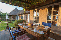 Breakfast table at the Ndali Lodge, Uganda, East Africa