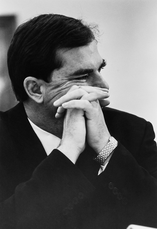 Close-up of Rep. Bill Sarpalius, D-Tex., on May 06, 1992. (Photo by Maureen/CQ Roll Call)