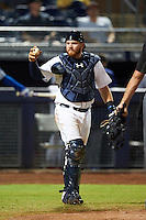 Peoria Javelinas Tyler Marlette (45), of the Seattle Mariners organization, during a game against the Glendale Desert Dogs on October 18, 2016 at Peoria Stadium in Peoria, Arizona.  Peoria defeated Glendale 6-3.  (Mike Janes/Four Seam Images)
