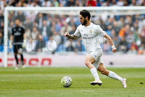09.04.2016. Madrid, Spain.  Francisco Roman Alarcon (22) Real Madrid. La Liga match between Real Madrid and SD Eibar at the Santiago Bernabeu stadium in Madrid, Spain.