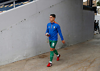 11th July 2020; The Kiyan Prince Foundation Stadium, London, England; English Championship Football, Queen Park Rangers versus Sheffield Wednesday; Joey Pelupessy of Sheffield Wednesday walking towards the pitch from the away tunnel before kick off