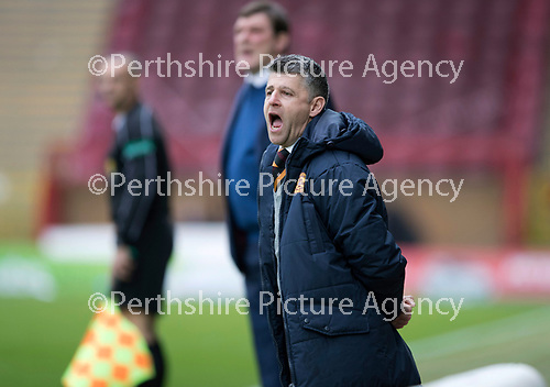 Motherwell v St Johnstone…18.03.17     SPFL    Fir Park<br />Motherwell manager Steven Robinson<br />Picture by Graeme Hart.<br />Copyright Perthshire Picture Agency<br />Tel: 01738 623350  Mobile: 07990 594431