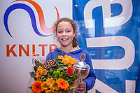 Hilversum, Netherlands, December 3, 2017, Winter Youth Circuit Masters, Winner girls 12 years Loes Ebeling Koning<br /> Photo: Tennisimages/Henk Koster