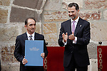 Prince Felipe of Spain presents the award 'Principe de Viana' for the spanish philosopher Daniel Innerarity Grau. June 06,2013. (ALTERPHOTOS/Acero)
