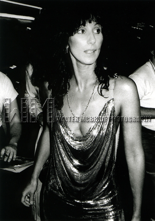 Cher 1981.LEAVING REGINES NIGHTCLUB, NYC..© Walter McBride/WM Photography