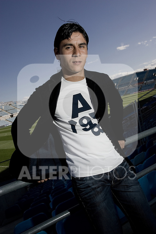 Getafe's Oscar Ustari during interview. November 04, 2009. (ALTERPHOTOS/Alvaro Hernandez)
