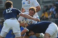 Leonardo GHIRALDINI  (italia) Yannick Jauzion (Francia)<br /> Italia vs Francia - Italy Vs France<br /> RBS 6 Nations Rugby Championship 2011<br /> Stadio Flaminio;<br /> Roma, 12/03/2011<br /> Photo Antonietta Baldassarre Insidefoto