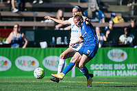 Seattle, WA - Sunday, May 1, 2016: Seattle Reign FC forward Manon Melis (14) takes a shot during the second half of a National Women's Soccer League (NWSL) match at Memorial Stadium.