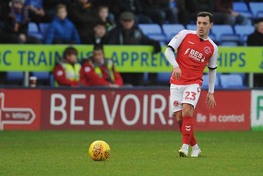 Fleetwood Town's Ross Wallace<br /> <br /> Photographer Kevin Barnes/CameraSport<br /> <br /> The EFL Sky Bet League One - Shrewsbury Town v Fleetwood Town - Tuesday 1st January 2019 - New Meadow - Shrewsbury<br /> <br /> World Copyright © 2019 CameraSport. All rights reserved. 43 Linden Ave. Countesthorpe. Leicester. England. LE8 5PG - Tel: +44 (0) 116 277 4147 - admin@camerasport.com - www.camerasport.com