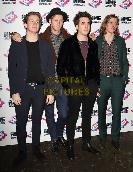 Circa Waves at The VO5 NME Awards 2017 at the O2 Academy, Brixton, London on February 15th 2017<br /> CAP/ROS<br /> &copy;Steve Ross/Capital Pictures