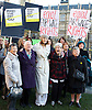 Women from the original Dagenham equal pay strike and Stars from cast of hit musical 'Made in Dagenham' at House of Commons for Pay Transparency vote<br /> <br /> 16th December 2014 <br /> outside Parliament <br /> <br /> Parliament will next week vote on the implementation of section 78 of the Equality Act (2010) to require large companies to publish their pay gap. <br /> <br /> <br /> Gwen Davis<br /> Eileen Pullen <br /> Gemma Arterton <br /> actress currently appearing in made in Dagenham <br /> Vera Sime<br /> Sheila Douglass<br /> <br /> <br /> <br /> <br /> Photograph by Elliott Franks <br /> Image licensed to Elliott Franks Photography Services
