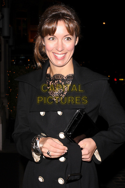 EMMA CROSBY .At the Inspirational Women Of The Year Awards, Marriott Hotel, Grosvenor Square, London, England, UK, November 23rd 2010..half length coat lace buttons black smiling  .CAP/AH.©Adam Houghton/Capital Pictures.