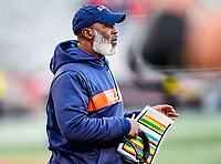 College Park, MD - OCT 27, 2018: Illinois Fighting Illini head coach Lovie Smith during game between Maryland and Illinois at Capital One Field at Maryland Stadium in College Park, MD. The Terrapins defeated Illinois to move to 5-3 on the season. (Photo by Phil Peters/Media Images International)