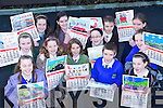 ROAD SAFETY: The 12 primary pupils from Kerry schools whose paintings have been chosen to appear in Kerry County Council's road safety calendar for 2009. Pictured l-r: Alison O'Meara, (Kiltallagh N.S., Castlemaine), Aisling de Baro?id, (Scoil Naomh Eoin Baiste, Lios Po?il), Aoife Enright (Dromclough N.S., Listowel), Joanne McDermott (Tarbert N.S.), Jeanie Leahy (Dromclough N.S., Listowel), Niamh Hanley (Cahir N.S., Kenmare), Caoimhe Geoghegan (Tarbert N.S.), Kevin Brouder, (Killocrim N.S., Listowel),  U?na Quill (Lissivigeen N.S., Killarney), Laura Cavanagh (Ardfert N.S.), Gene Moriarty Killocrim (N.S., Listowel) and Katie O'Brien (Blennerville N.S., Tralee).   Copyright Kerry's Eye 2008