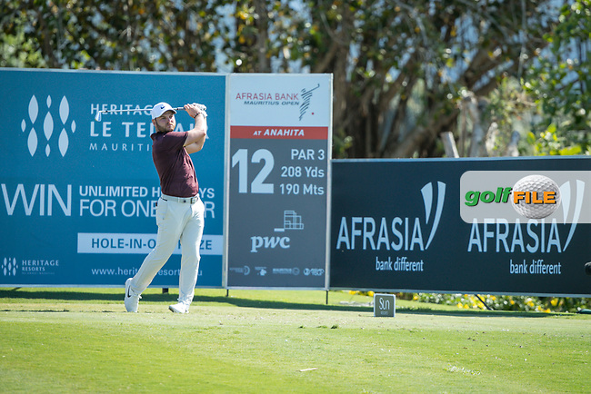 Jordan Smith (ENG) during the 2nd round of the AfrAsia Bank Mauritius Open, Four Seasons Golf Club Mauritius at Anahita, Beau Champ, Mauritius. 30/11/2018<br /> Picture: Golffile | Mark Sampson<br /> <br /> <br /> All photo usage must carry mandatory copyright credit (© Golffile | Mark Sampson)