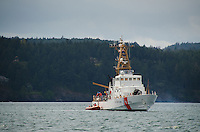 Coast Guard Cutter in Harney Channel, San Juan Islands, Washington, US