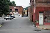 Closed businesses in the centre of Welch, West Virginia, an impoverished town affected by the decline in the local coal mining industry.