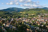 Germany, Baden-Wuerttemberg, Markgraefler Land, Kandern: overview