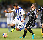 Real Sociedad's William Jose (l) and Real Madrid's Sergio Ramos during La Liga match. August 21,2016. (ALTERPHOTOS/Acero)