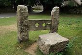 Stocks in the Dartmoor village of Belstone